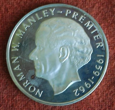 1973 Proof Jamaica 5 Five Dollar Proof Silver Coin