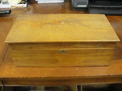 Antique Oak Box w/ Stereo Viewer and 125 Stereoview Cards Some Real Photos Rare