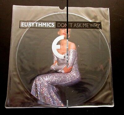"""EURYTHMICS Don't Ask Me Why 1989 UK 12"""" VINYL PICTURE DISC IN PRINTED PVC SLEEVE"""