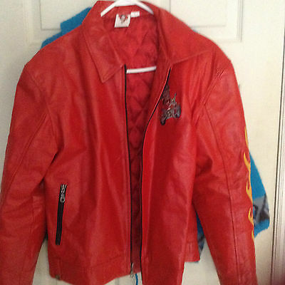 New Betty Boop Red Leather Jacket with defect