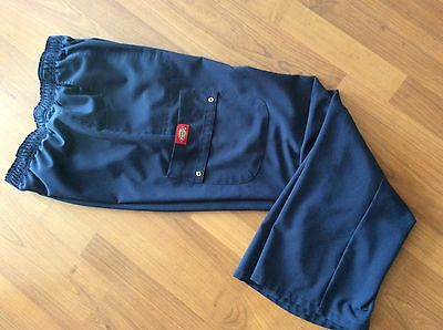 Dickies Women's Scrub Pants , Size S, Navy Blue
