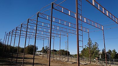 metal  Frame building  Hay storage  barn  80'x30'x25