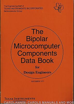 TEXAS INSTRUMENTS Data Book 1977 Bipolar Microcomputer Components