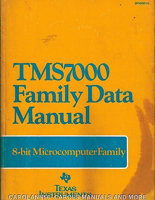TEXAS INSTRUMENTS Data Book 1983 TMS7000 Family Data plus Pocket Reference