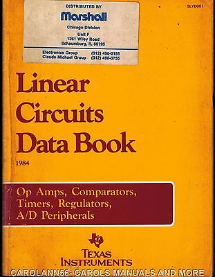 TEXAS INSTRUMENTS Data Book 1984 Linear Circuits