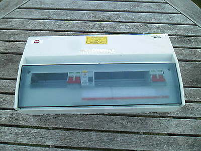 Wylex 15 Way Dual Rcd Consumer Unit Free Uk Postage Off Peak Soalr