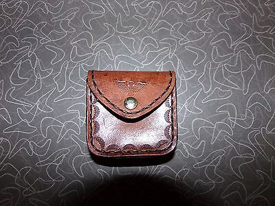 Vintage Hand Tooled Leather Mexican Change Purse