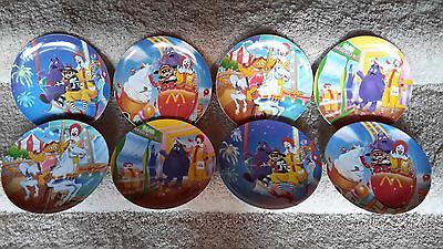 Lot of 2 sets of 4 McDonald's Hard Plastic Dinner Plates Perfect Condition