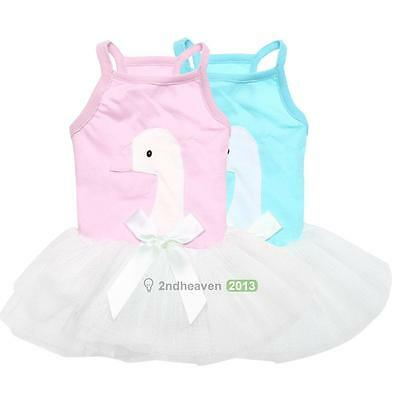 Cute Pet Puppy Dog Cat Lace Skirt Princess Tutu Dress Summer Clothes Apparel