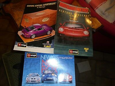 Ancien Catalogue Burago BBURAGO NEWS Achtung Porsche & Newkits New Box