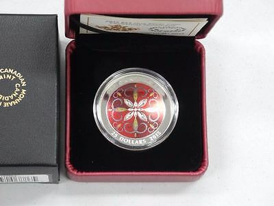 2015 $25 Christmas Ornament Royal Canadian Mint Coin