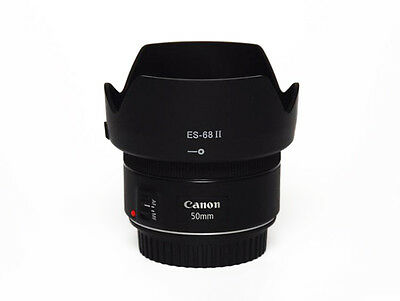 ES-68 II Replacement Hood For Canon EOS EF 50mm f/1.8 STM 49mm lens - UK SELLER