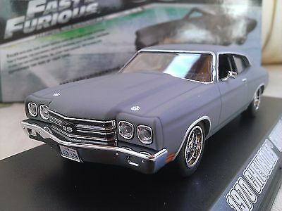 Fast and Furious Dom's 1970 Chevrolet Chevelle SS Diecast Car 1/43 Greenlight