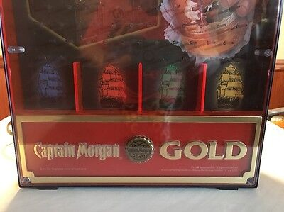 Captain Morgan Gold Pinball Cannonball Game Lighted Bar Sign