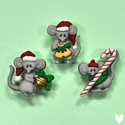 DRESS IT UP Buttons Not A Creature Was Stirring 7476  - Mice - Christmas - Mouse
