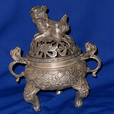 Chinese Incense Burner - Very Detailed - Dragon Face  ~