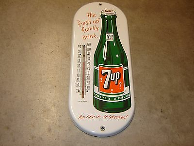 7UP Porcelain  Thermometer Sign