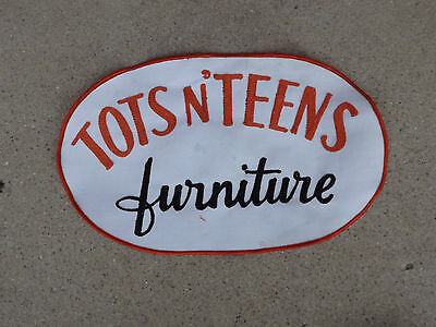 Vintage Tots N' Teens Furniture Store Jacket Patch- Blue Island,IL Advertisingin