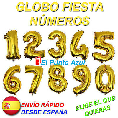 Globo Numero Dorado Cumpleaños★Fiesta Aniversario Party★ Balloon Number Birthday