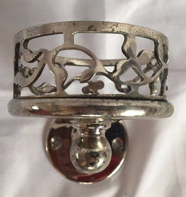 Vtg Mott Nickel Brass Wall Mount Cup Glass Holder Old Bathroom Antique  107-17J