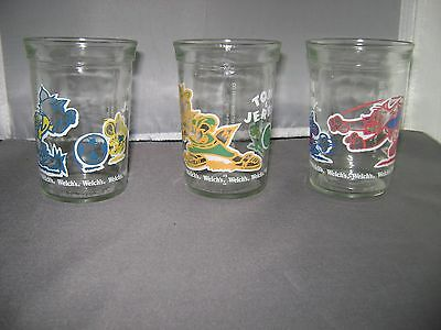 3 Tom & Jerry Welch's Jelly Glasses
