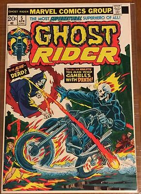(Comic Book)  Ghost Rider #5 (1974 Vf/nm 9.0)