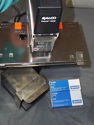 Salco Rapid 106E Electric Stapler With Foot Pedal & Staples Works