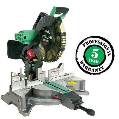 Hitachi 12-in 15-Amp Dual Bevel Laser Compound Miter Saw C12FDH new