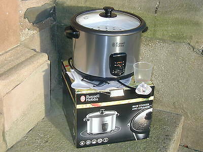 New In Box Russell Hobbs Rice Cooker & Steamer 1.8 Litre 10 Cup Capacity
