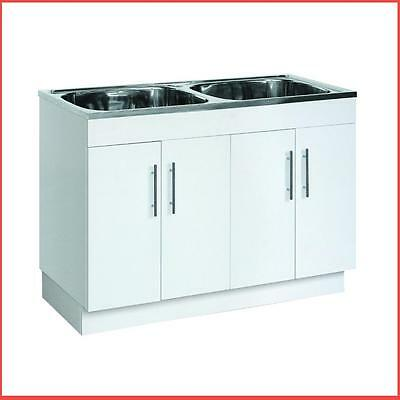 Stainless Steel Sink With Polyurethane Cabinet Laundry Tub-90L