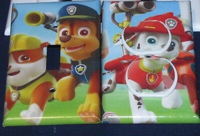PAW PATROL LIGHT SWITCH OR OUTLET COVERS HANDMADE Safety Plugs