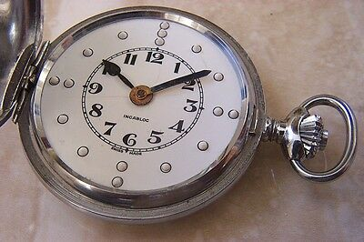 A BRALE HUNTER CASED MANUAL WIND POCKET WATCH c.1960'S