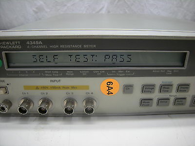 Agilent (Hp) 4349A 4-Channel High Resistance Meter **warranty**