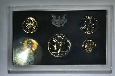 1971-S US Proof Set-Rainbow Toned-Colorful Lincoln-5-coins in Origional Holder