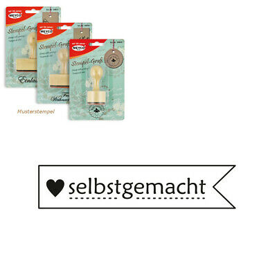 "Meyco Holz Stempel ""selbstgemacht"" 60 x 13 mm"