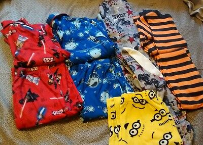 Lot of 5 boys size 8 pajamas ~ 4 sets and 1 pair of pants
