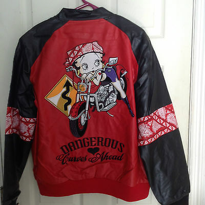 New Betty Boop JH Designs Group Faux Leather Jacket