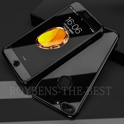 Mirror Hybrid 360° Hard Thin Case + Tempered Glass Cover For iPhone 6S 7 Plus