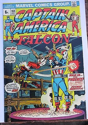 CAPTAIN AMERICA AND THE FALCON # 168 1st HELMUT ZEMO, HIGH GRADE COPY