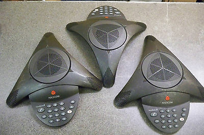 Lot of (3) Polycom SoundStation 2 Non-Expandable 2201-15100-001