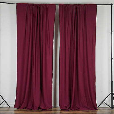 BURGUNDY Polyester Professional BACKDROP CURTAINS 10 x 10 ft Decorations SALE