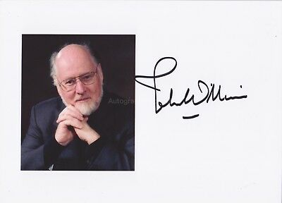 John Williams Hand Signed 7x5 Photo Autograph, Star Wars, Harry Potter Composer