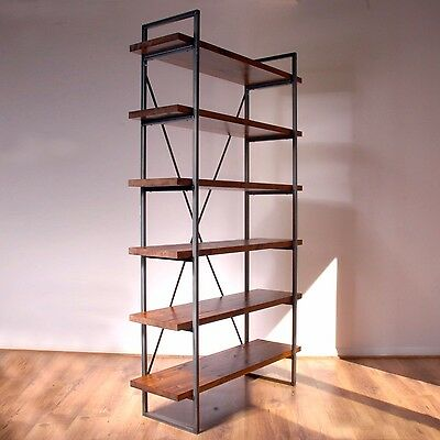 Industrial Vintage Rustic Free Standing Book Shelves. Display Unit, Bookcase