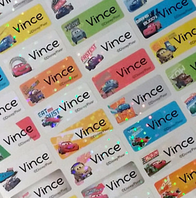 88 SMALL Personalized Disney Car 2 personalized Waterproof Name labels stickers