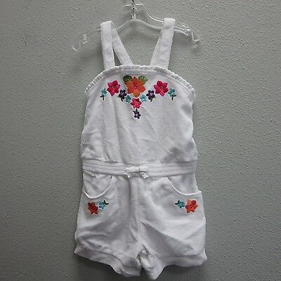 GYMBOREE Girls White Terry One-Piece Romper Beach Swim Play Outfit Shorts - 6