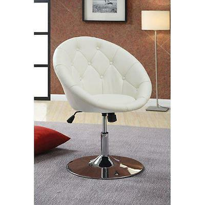 Round Swivel Chair Rolling Adjustable Stool Backrest