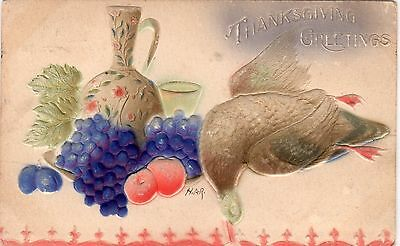 Early 1900's Embossed Thanksgiving Greetings Postcard - Selling Lot Of Cards