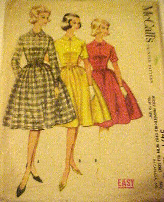 #5471 VINTAGE1950'S McCALLS MISSES PROPORTIONED DRESS SEWING PATTERN SIZE 12