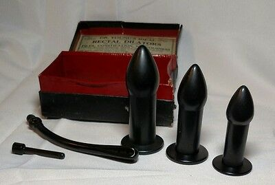 Antique Quack Medical Dr. Young's Rectal Dilators  ( 5 ) With Original Box
