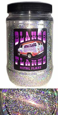 1lb Blakes Metal Flake .025 Alpha Silver bright Hot Rod Custom Automotive